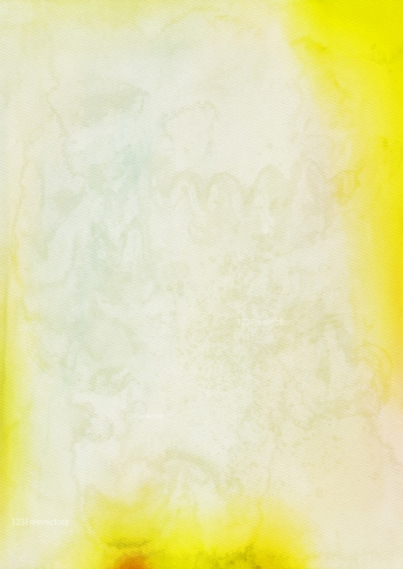 Yellow and White Grunge Watercolour Texture Background