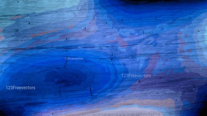 Cobalt Blue Wood Background