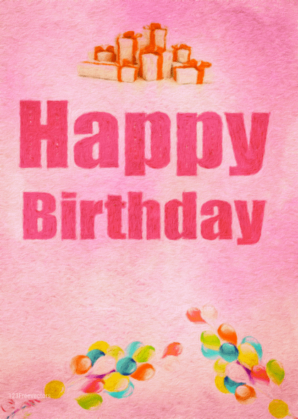 Birthday Party Background Graphic