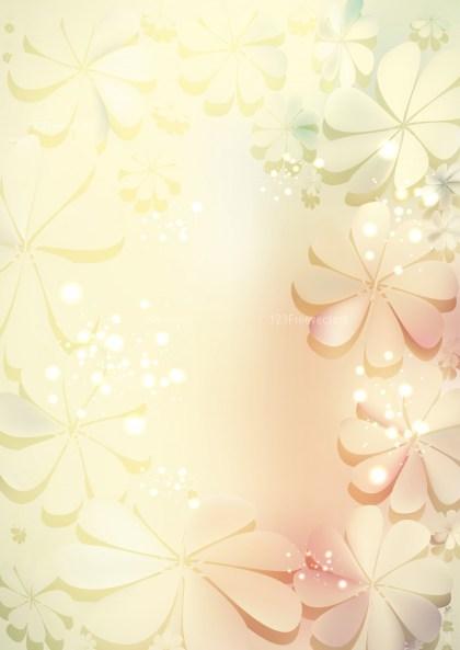 Beige Flower Background Vector Graphic