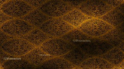 Black and Brown Damask Pattern Texture Background Image