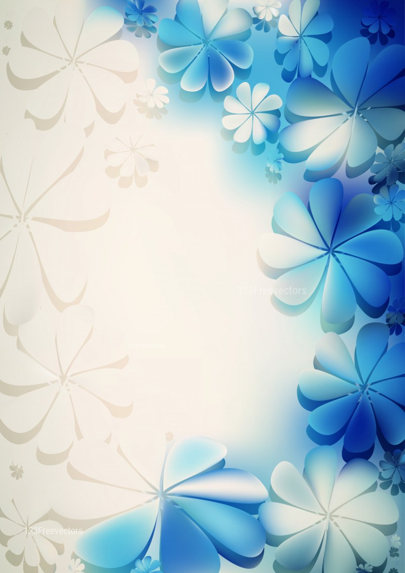 Blue and Beige Flowery Background