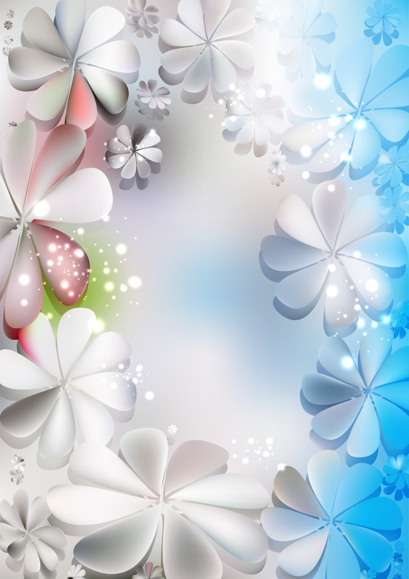 Blue and Grey Flower Background