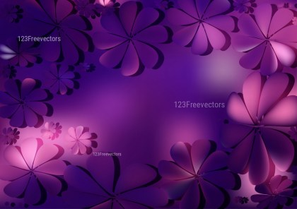 Blue and Purple Flower Background