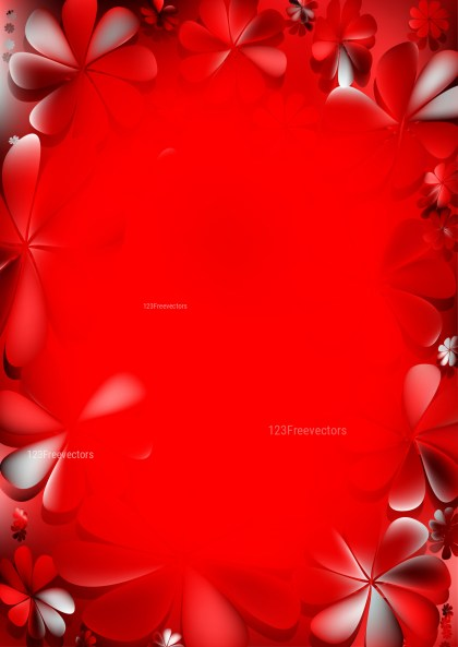 Bright Red Floral Background