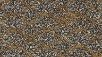 Brown and White Damask Pattern Texture Background Image