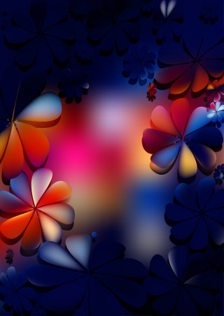 Dark Color Flower Background