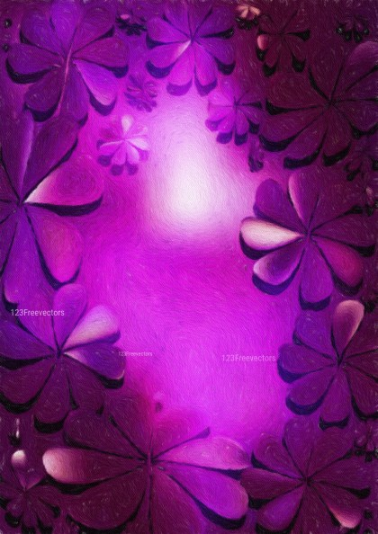 Dark Purple Watercolor Floral Texture Background
