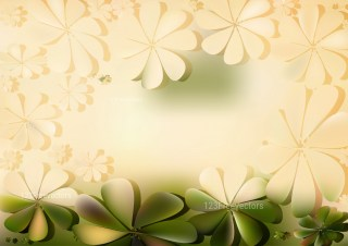 Green and Beige Floral Background Vector Art