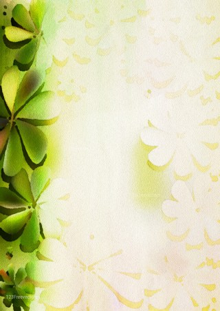 Green and Beige Watercolor Floral Texture Image