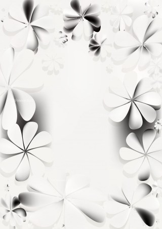 Grey and White Floral Background Graphic