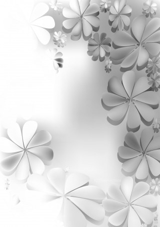 Grey and White Floral Background