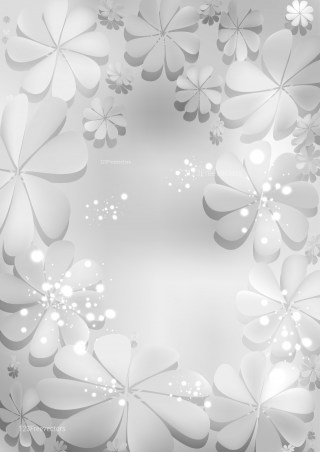 Light Grey Floral Background Vector Art