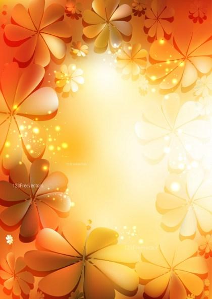 Orange and White Flower Background