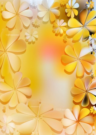 Orange and White Floral Background