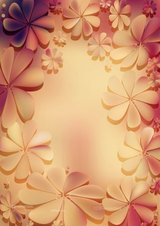 Pink and Brown Flower Background