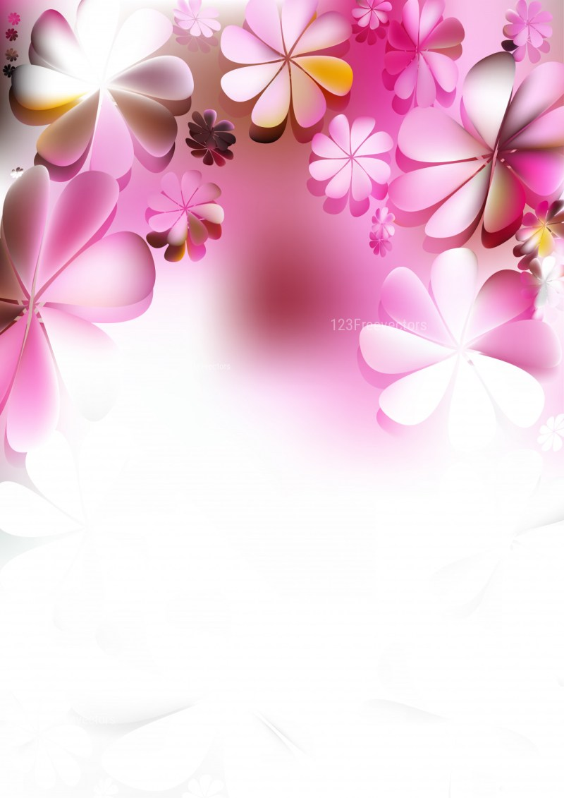 Pink and White Flowers Background