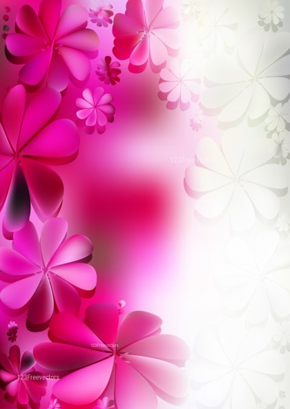 Pink and White Flowery Background Vector Illustration