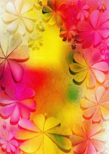 Pink and Yellow Watercolor Floral Texture