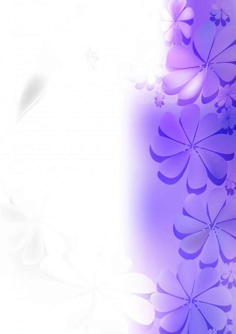 Purple and White Flower Background Design