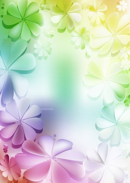 Purple Green and White Floral Background Vector Image