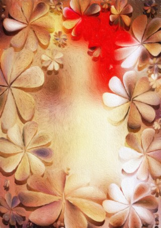 Red and Brown Watercolor Flower Texture Background