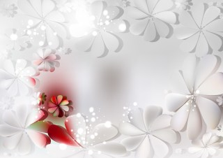 Red and Grey Floral Background
