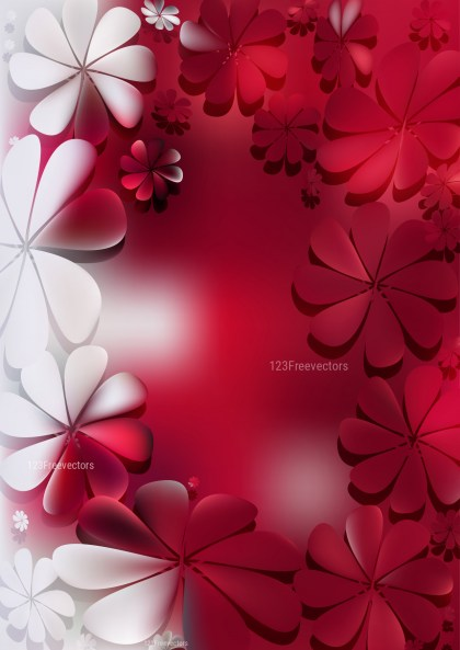 Red and White Flower Background