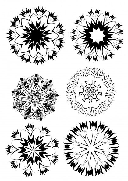 circular Decorative Ornament Illustration