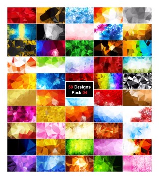 50 Abstract Polygon Background Vector Pack 04