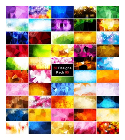 50 Abstract Low Poly Background Vector Pack 05