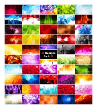 50 Vector Polygon Background Collection Pack 07