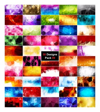 50 Vector Polygonal Background Collection Pack 09