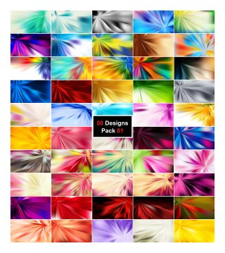 50 Abstract Rays Background Designs Vector Pack 01