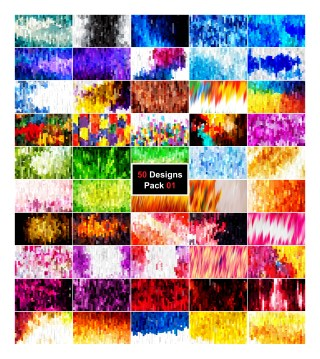 50 Abstract Stripes Background Vector Pack 01