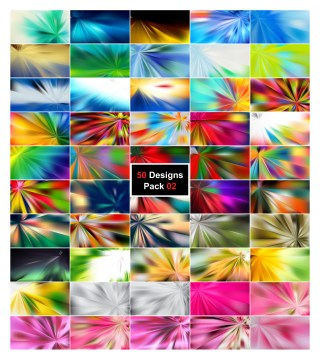 50 Abstract Rays Background Designs Vector Pack 02