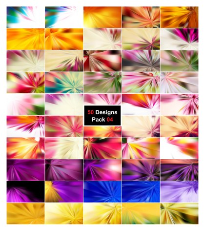 50 Abstract Rays Background Designs Vector Pack 04