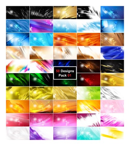 50 Abstract Background Designs Vector Illustrator Pack 01