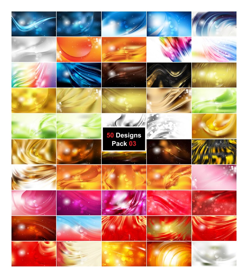 50 Abstract Background Designs Illustrator Pack 03