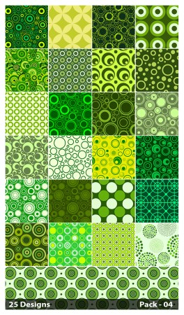 25 Green Circle Background Pattern Vector Pack 04
