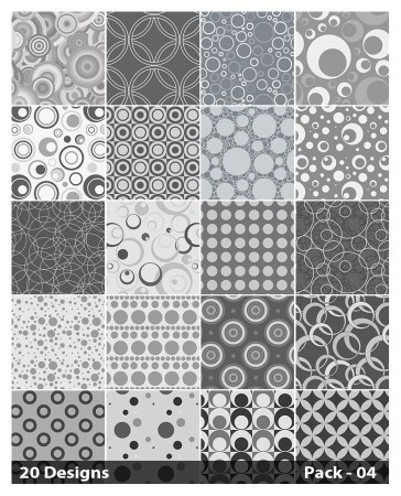 20 Grey Circle Background Pattern Vector Pack 04