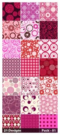 21 Pink Seamless Circle Pattern Vector Pack 01