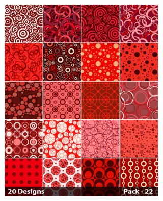 20 Red Circle Background Pattern Vector Pack 22