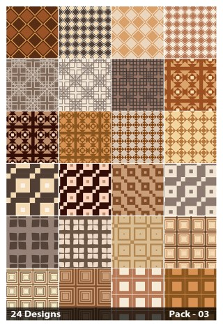 24 Brown Seamless Square Pattern Background Vector Pack 03