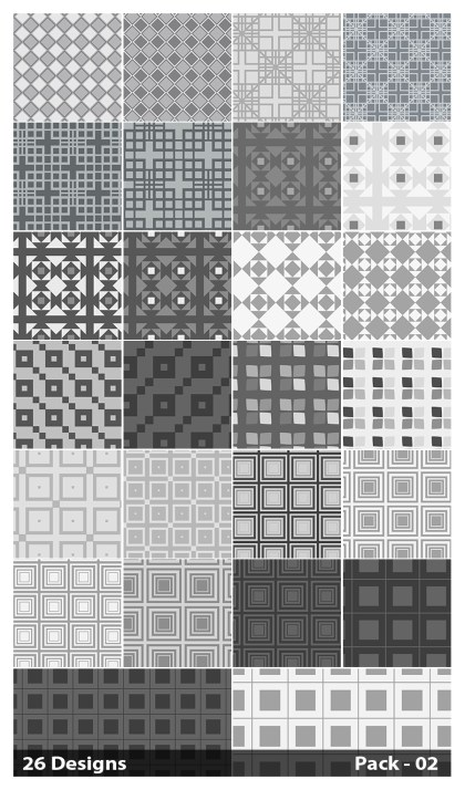 26 Grey Square Pattern Vector Pack 02