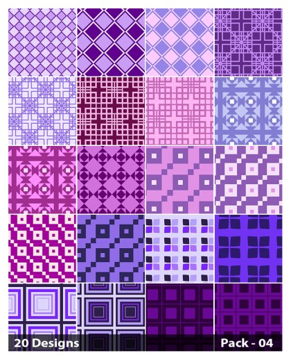20 Purple Square Pattern Background Vector Pack 04
