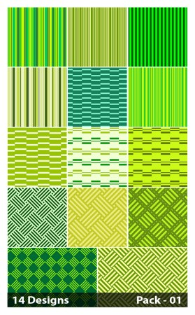 14 Green Seamless Stripes Pattern Vector Pack 01