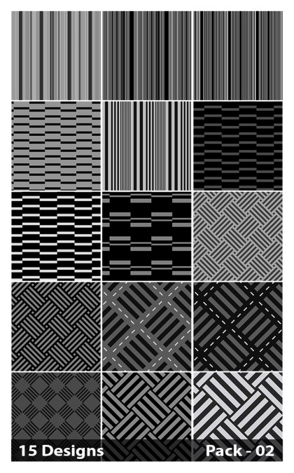 15 Black Stripes Pattern Vector Pack 02