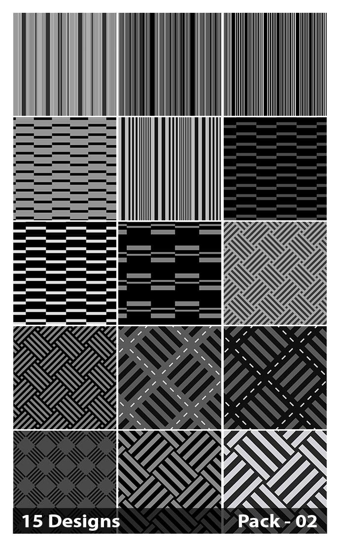 15 Black Stripes Pattern Vector Pack 02