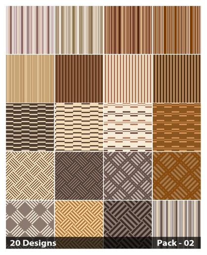20 Brown Stripes Pattern Vector Pack 02